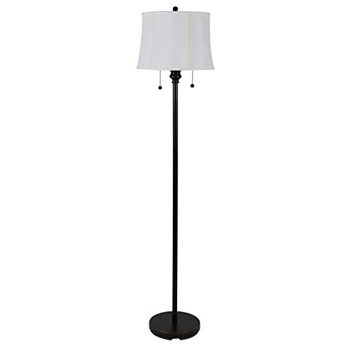 61.5u0022 Décor Therapy Twin Pull Floor Lamp, Multiple Finishes
