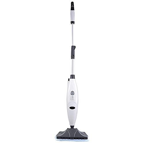 Steam Mop, Multi Function Handheld en Rechtop Steam Mop, verstelbare Steam Instellingen for Vlekken verwijderen Vloer Vloerbedekking, Floor Electric Spray Rotating Pads 1300W White XIUYU