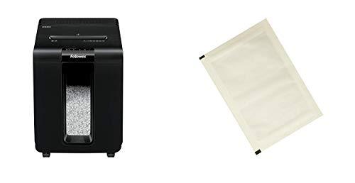 Fellowes Automax 100M, Automatischer Aktenvernichter für 100 Blatt (10 Blatt manuell), Mini-Cut (P-4), Silentshred & Amazon Basics - Schmiermittelblätter für Aktenvernichter, 12er-Pack