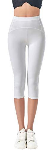 JOPHY & CO. Leggings 3/4 Mujer Elástico Yoga Pilates (Cód. 9901) Color blanco. S