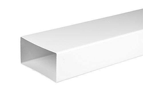 Flachkanal , Lüftungskanal, 55 x 110mm , 1m, Kunststoffkanal Awenta
