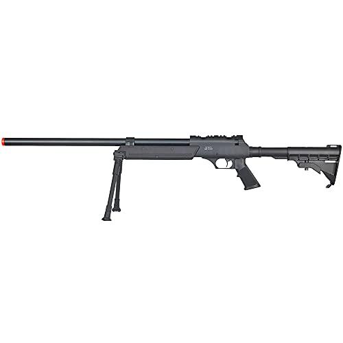 Well Full Metal ASR MB06 SR-2 Bolt Action Sniper Rifle Airsoft Gun (Black/ Bipod Package)