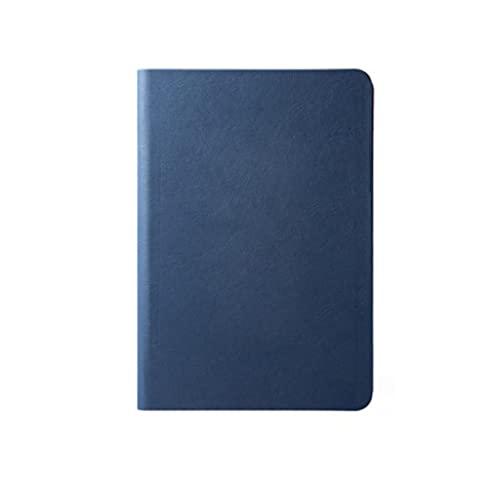 WPBOY Portátil Portátil Cuero Mini Diario Personalidad Multifunción Bolsillo Bloc De Notas Cremallera Soporte De Tarjeta(A5/A6) (Color : Dark Blue, tamaño : A5)