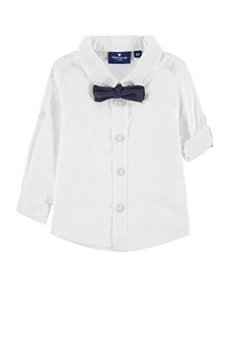 TOM TAILOR Kids TOM TAILOR Kids Baby-Jungen Shirt Hemd, Weiß (Bright White 1000), (Herstellergröße: 62)