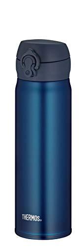 Thermos Bouteille isotherme en acier inoxydable Bleu 0,5 l