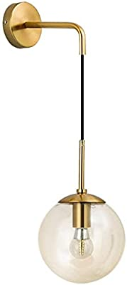 CITRA Gold Retro Glass Glass Ball Wall Light Copper Metal Light(M9936/1) - Gold Warm White