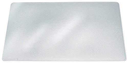 Durable 711219 Duraglas Sous-main Plaque Simple Format Conférence 53x40 cm Bords Rainurés Transparent