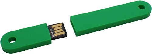 USBfix USB Stick zum Abheften V2 USB20 32GB TypA Flach Grun 1er Pack