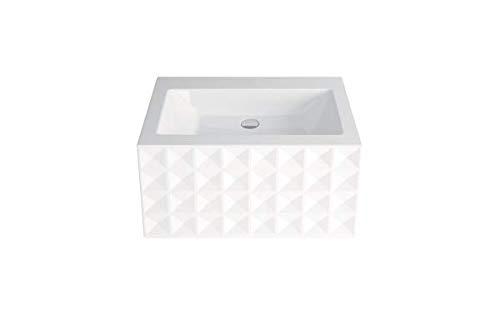 Preisvergleich Produktbild Bette Loft Ornament Wand-Waschtisch ohne Hahnloch,  A230-SWV4A 825 x 510 mm,  Farbe: Weiß