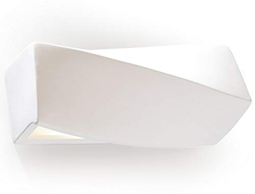Sollux Lighting SL.0229 Applique murale traditionnelle en céramique pour salon Blanc