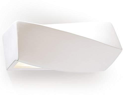 Sollux Lighting Sollux Sigma Mini SL.0229 - Lámpara de pared tradicional (cerámica, 1 bombilla), color blanco