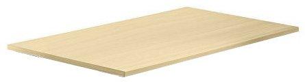Unbekannt Konferenztisch - Platte (ohne Füße) KONTOR 120 x 80cm Ahorn