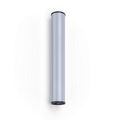 CUPFRIEND Becherspender Wandmontage für Plastikbecher, Wasserbecher, Pappbecher, Kaffeebecher im Edelstahl-Look (für Becher Ø60-73mm)