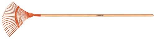 Tramontina Fächerbesen, Rechen, 22 Zinken, Länge 150 cm, braun