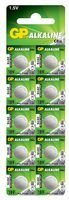 Best Price Square Button Cell, ALK 189 1.5V PK10 GP189-C10 by GP Batteries