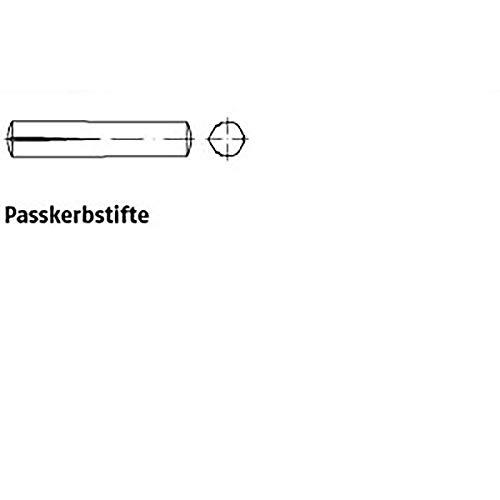 Paßkerbstifte ISO 8745 1.4305 5 x 40 rostfrei A 1 VE=S 100 Stück