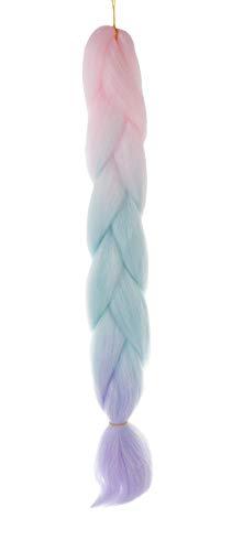 Flechten Haarverlängerungen Synthetisches Haar Ombre 10341, Farbe:Pink-Lila