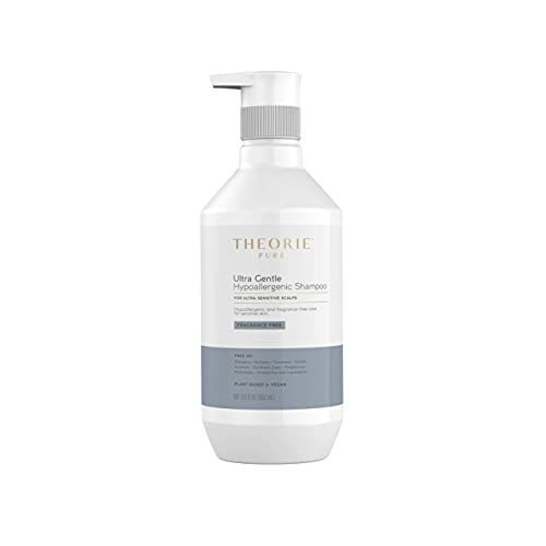 THEORIE Pure Ultra Gentle Hypoallergenic Shampoo - Plant Based & Vegan - Conditions and Soothes Itchy & Allergy Prone Skin - Fragrance Free - Suited for Ultra Sensitive Scalp, Pump Bottle 400mL (13.5 Fl Oz (Pack of 1))