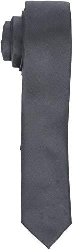 SELECTED HOMME Herren SLHPLAIN TIE 5CM NOOS B Krawatte, Grau (Grey Grey), One Size