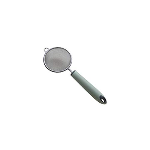 YUZZZKUNHCZ LS Colander Acero inoxidable, Colador Filtro de aceite de acero inoxidable, cuchara de tamiz de superficie, cuchara utilizable en la cocina del hogar (tamaño: M)