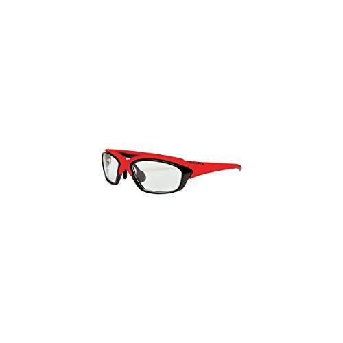 EASSUN Gafas de Ciclismo y Running RX Sport Graduables - Negro y Rojo