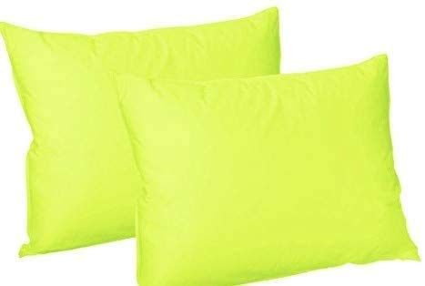 Jubileehomeware - Copricuscini di lusso tinta unita in policotone, coppia di federe, confezione in formato 50x 75cm circa Lime Green