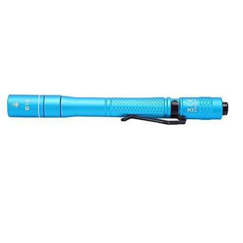 SHYEKYO Mini Linterna Tipo bolígrafo, Punto de luz Suave y cómodo, diseño Curvo ergonómico, luz LED Tipo bolígrafo para Exteriores