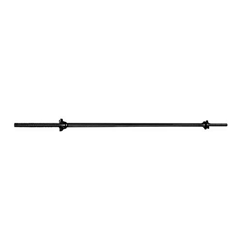 CAP Barbell 60 Standard Solid Threaded Bar, 1-Inch, Multiple Colors, Black