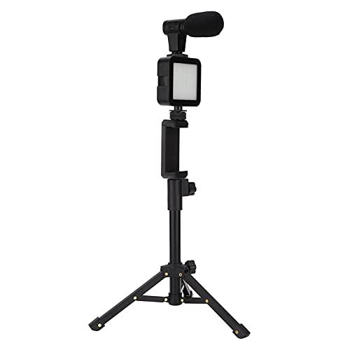 Cosiki Set di luci di riempimento, Set di lampade di riempimento Portatili con Luce supplementare con 1 treppiede da Tavolo per riprese Video