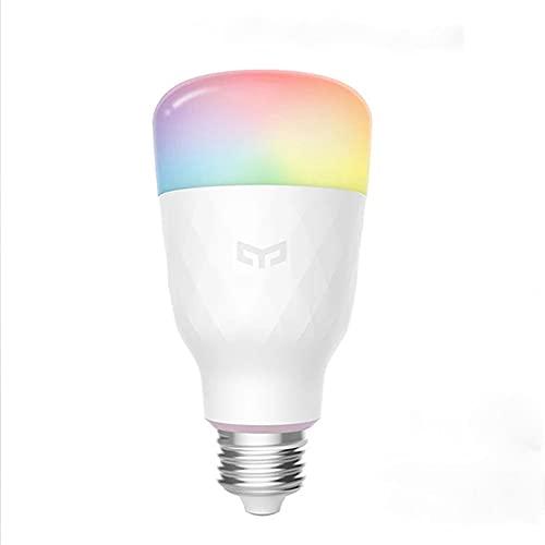 Yeelight 1S YLDP13YL Bombilla Wifi, Cambio de color inteligente 1700-6500K Regulable 8.5W Luz blanca Led funciona con Homekit, Asistente de Google