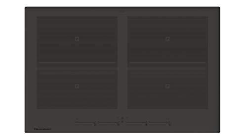 Küppersbusch KI8800.0CGR Induktionskochfeld, Designkochfeld, Induktion, 4 Kochzonen, 13 Leistungsstufen & glideControl+ Bedienung, 80 cm, Carbon-Grau, rahmenlos