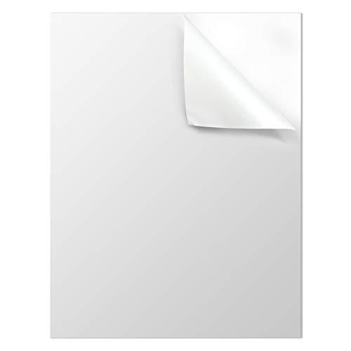 Mr-Label White Matte Waterproof Vinyl Sticker Paper - Full Letter Sheet Label - Inkjet/Laser Compatible - for Home Business (25 sheets/25 Labels)
