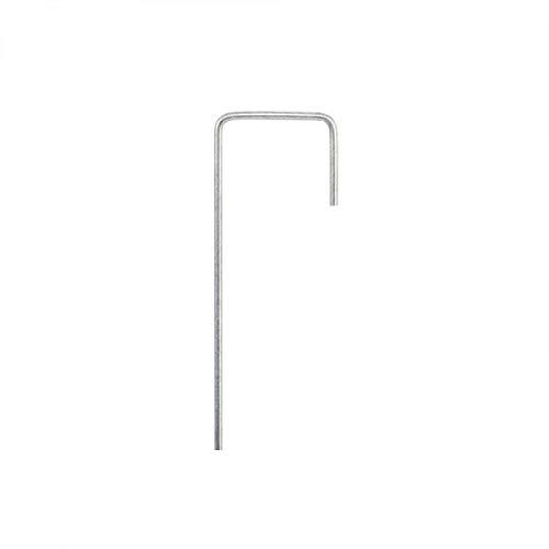 Erdnagel J-Form 15/3cm Verzinkt Stahl Boden Erd Anker Unkraut Garten Vlies Folie