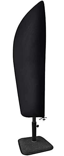 Funda para sombrilla con barra de contracción, impermeable, resistente al viento, anti-UV, resistente a desgarros, tela Oxford 210D, extra grande, voladizo con cremallera (265 x 40/70/50 cm)