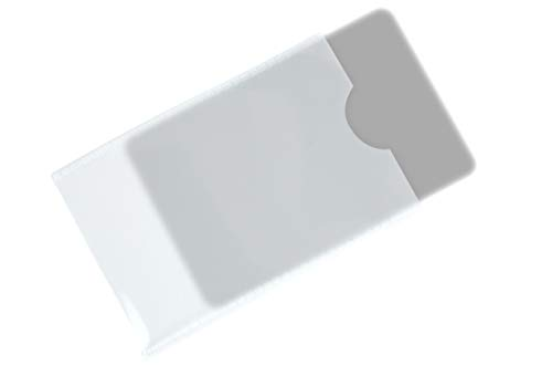 * Transparente Kartenhülle für Ausweise Kreditkarten Visitenkarten   Schutzhülle Ausweishülle   ca. 90 x 56 mm