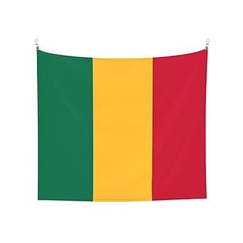 Tapisserie Flagge von Mali, Wandbehang, Tarot-Boho, beliebte mystische Trippy-Yoga-Hippie-Wandteppiche für Wohnzimmer, Schlafzimmer, Wohnheim, Heimdekoration, schwarz & weiß, Stranddecke
