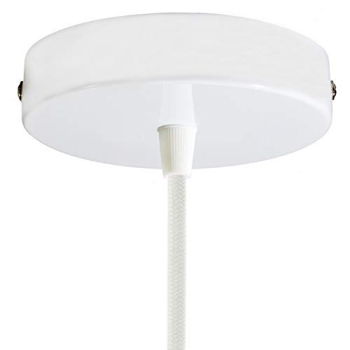 creative cables Kit rosone cilindrico in Metallo - Conico, Bianco Lucido