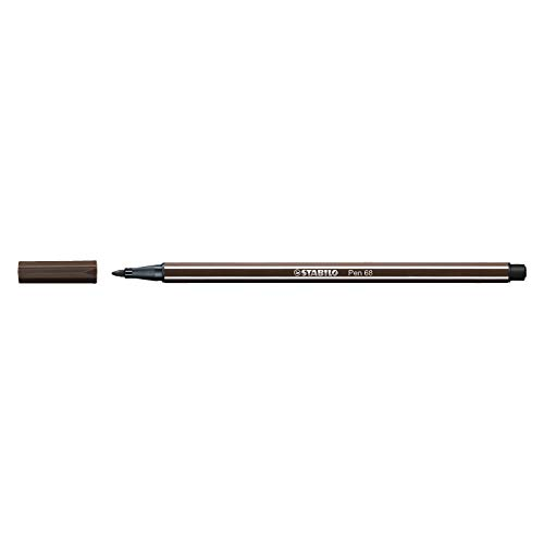 Feutre dessin - STABILO Pen 68 - 1 feutre pointe moyenne -terre d'ombre