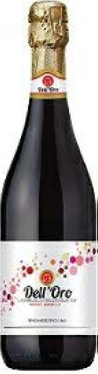 そっと役員びっくりする〔スパークリングワイン〕 デル?オーロ ランブルスコ 750ml 1本 (イタリア)(赤)(微発砲)日本酒類販売