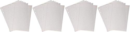 School Smart 85243 Cursive Ruled Notebook Paper with Margin - 8 in x 10 1/2 in - Ream of 500 - White - 085243 (Fоur Paсk)