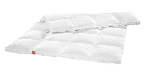 sleepling 196762 edredón Extra cálido de plumones, para Invierno, Fabricado en plumones Blancos nuevos (90%) y Plumas (10%), 155 x 220 cm, Blanco