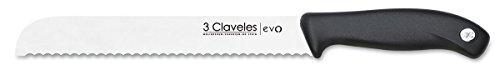 3 Claveles EVO Cuchillo panero, Acero Inoxidable,...