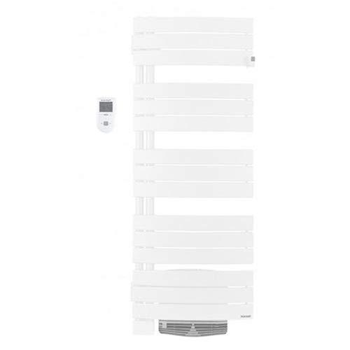 Radiator handdoekdroger Allure met blazer 1500 W, draaibaar links, wit graniet