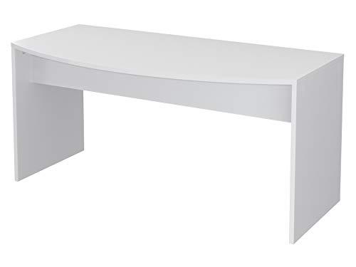 Movian Belaya moderner, geschwungener Schreibtisch, 80 x 160 x 75, Weiß