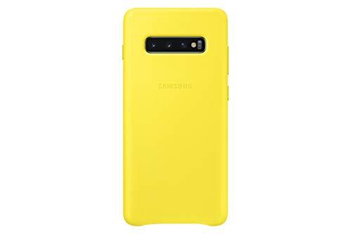 Samsung EF-VG975LYEGWW Custodia in Pelle per S10+, Giallo