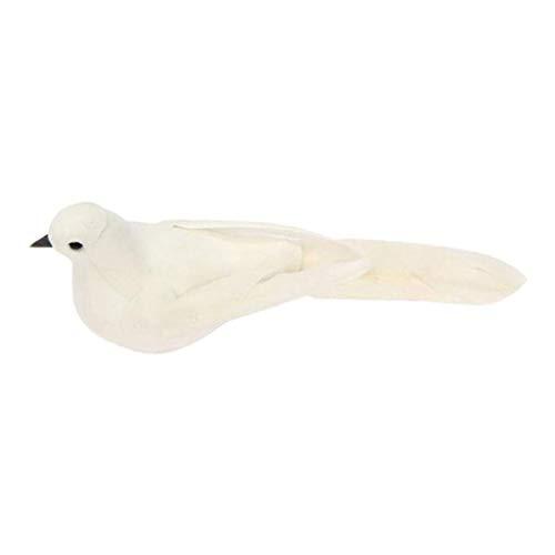 FLAMEER Animal de Espuma de Juguete Suave Blanco Paloma Artificial