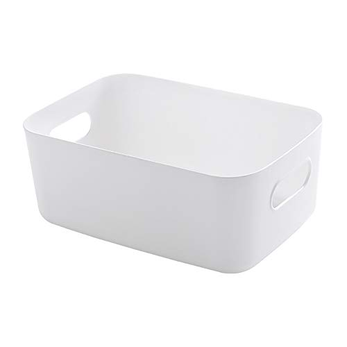 Macabolo minimalistisch design kunststof opbergdoos voor kleine voorwerpen, badkamer, shampoo, lotion cosmeticakorf, keuken, opbergdoos 12 * 20 * 30cm wit