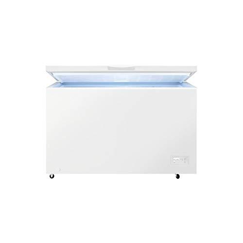 Zanussi ZCAN38FW1 Arcón congelador, Capacidad 371 Litros, 3 cestos, Compresor Inverter, Congelación Rápida, Display LCD, Alarma acústica y visual luminosa, Blanco