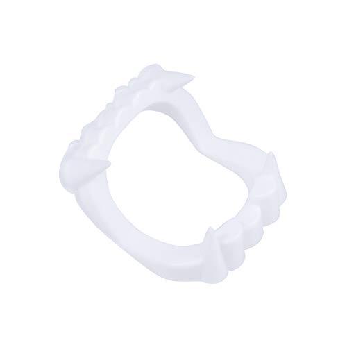 Gorras de dientes de vampiro blanco colmillos de hombre lobo para Halloween Prop Costume Unisex