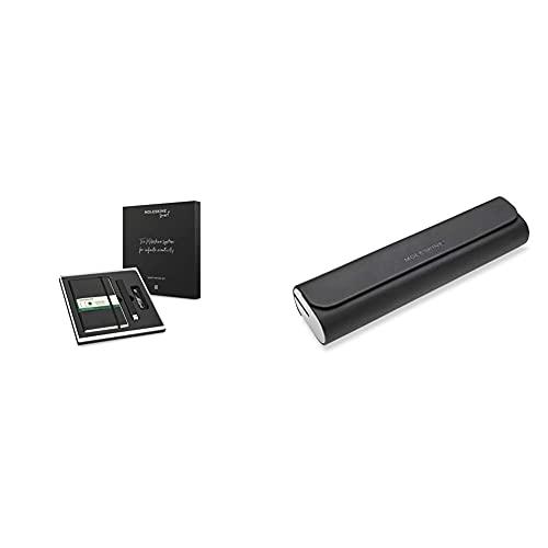 Moleskine Swsab33Bk01 Smart Writing - Set Con Smart Pen+ Ellipse Penna, Notebook Paper Tablet, Taccuino Digitale & Custodia Ellipse, Astuccio Con Canalina Per Cavo Di Ricarica, 20 X 5